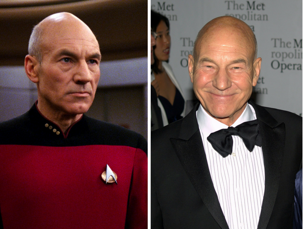 Patrick Stewart Then And Now
